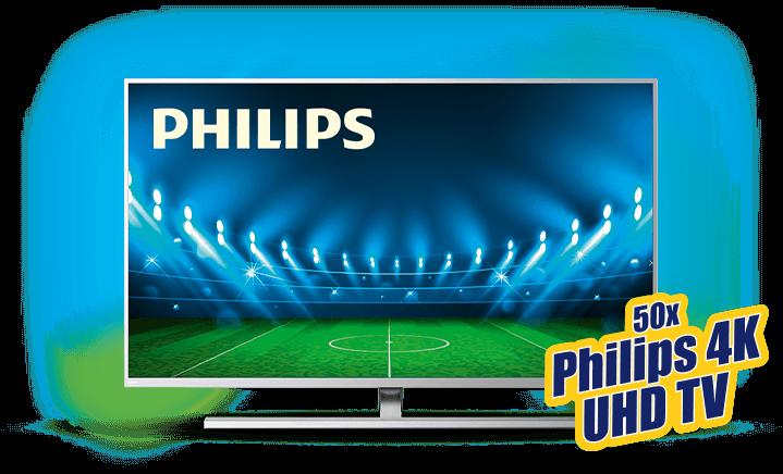 50 mal Philips 4k UHD TV